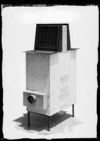 Floor furnace, dual heater, Southern California, 1933