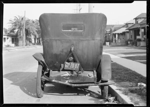 Chevrolet wreck, Los Angeles, CA, 1931