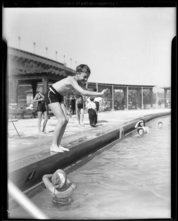 Boy diving, Southern California, 1933