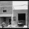 Damage to telephone cables, building at West Pico Boulevard and South Robertson Boulevard, Los Angeles, CA, 1932