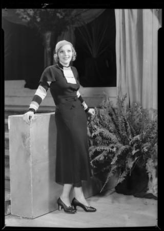 Sally Blane - dresses, Southern California, 1932