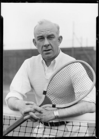 Mr. Sears - tennis player endorses Shell gas, Southern California, 1933