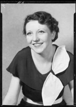 Portrait of Patsy Williams, Southern California, 1933