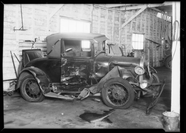 1929 Ford coupe, Lou Kerner, owner, Leo Schrimps, assured, Southern California, 1932