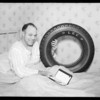 Mr. Heneise selling Signal products from his bed, Southern California, 1935