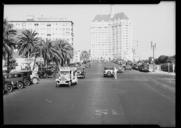 Long Beach traffic scenes, Long Beach, CA, 1934