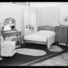 Bedroom setup, Southern California, 1931