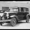 Pontiac sedan, S. G. Cosgrove, assured Emma Schultz, Southern California, 1932