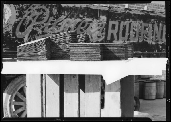 Roofing shingles, Southern California, 1933