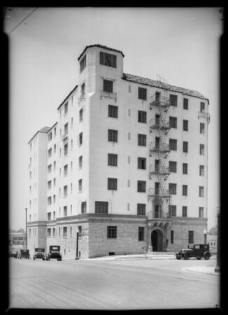 Building at South Serrano Avenue & San Marino Street, Los Angeles, CA, 1933