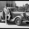Tire publicity with Homer Griffith, Southern California, 1934