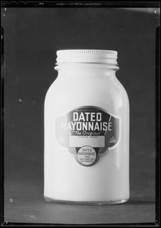 Bottle of mayonnaise, Southern California, 1935