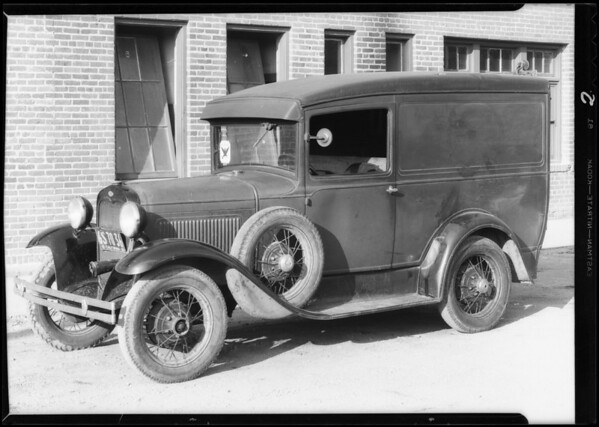 Ford truck, Commercial Casualty Co., Southern California, 1933