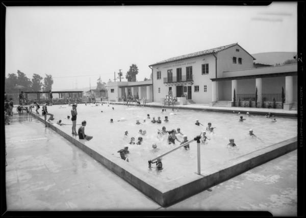 El Sereno swimming pool, Los Angeles, CA, 1931