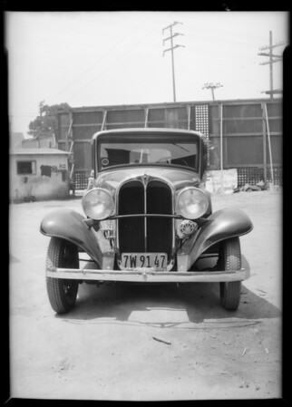 Willys sedan, Southern California, 1932