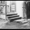 Steps on rear porch, 6222 Lexington Avenue, Los Angeles, CA, 1932