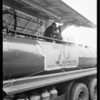 76 Gasoline banners  on trucks, Southern California, 1931