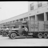 Fleet of trucks, Southern California, 1931