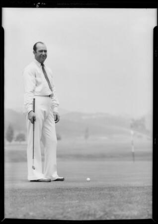 Fred Morrison, golf professional, Pasadena, CA, 1933