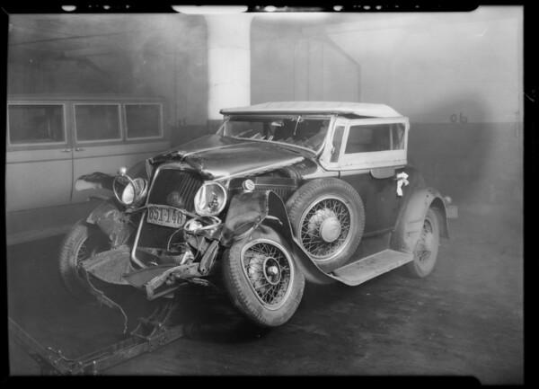 Durant roadster, Pierce-Arrow - Frank Toplitzky, Southern California, 1931