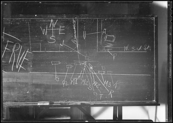 Blackboard, Crockett vs. Abbott & Hart, Southern California, 1933