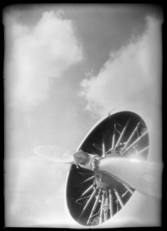 Motor of Lockheed plane, Union Oil Co., Southern California, 1933