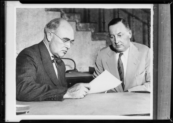 Mr. J.G. Tew, president, and Mr. S.B. Robertson, vice president, Southern California, 1931