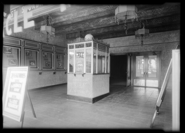 Lobby, Marcal Theater, Southern California, 1932
