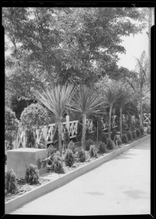 Landscapes, station at East Florence Avenue and Pacific Boulevard, Huntington Park, CA, 1934