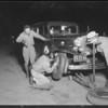 Night scenes at Ascot oil test run, Southern California, 1933