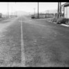 Intersection of San Fernando Road & Foothill Boulevard, north of San Fernando - skid marks, United Air Lines vs. Los Angeles Implement Co., Southern California, 1933