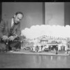 Model of service station, Southern California, 1932