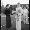 Tennis tournament, Los Angeles, CA, 1934