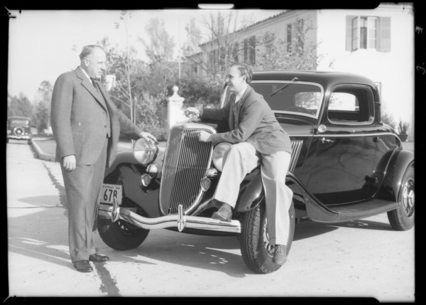 Jackie Coogan & Ford, Southern California, 1934