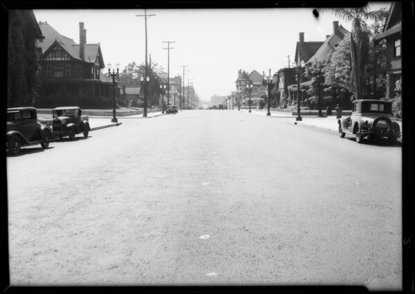 Intersection, West 8th Street and Bonnie Brae Street, Los Angeles, CA, 1932