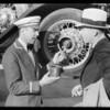 Customer watching lubrication of car, Southern California, 1931