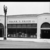 Exterior of store and publicity shots, Southern California, 1932