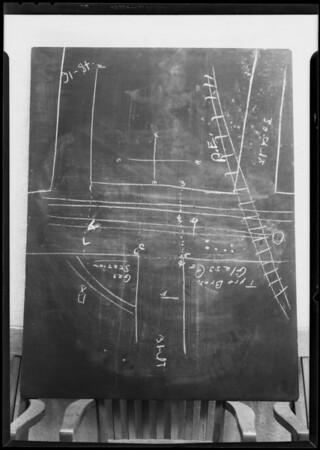 Blackboard, Department 10, Municipal Court, Southern California, 1931