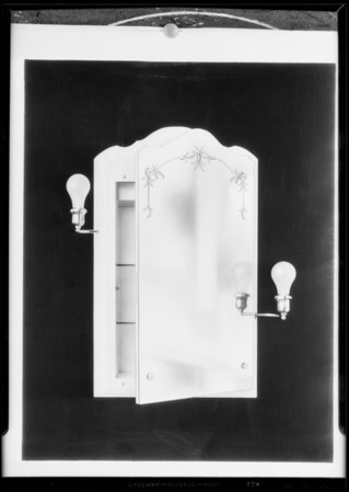 Mirror cabinet with lights, Southern California, 1931