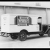 St. John's Military Academy and Wonder Bread trucks, Southern California, 1931