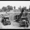 Construction of new city hall, Van Nuys, Los Angeles, CA, 1932