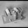 Brick testing machine at 1218 Rio Vista Avenue, Los Angeles, CA, 1932