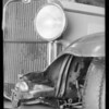 Viking car (collided with motorcycle), Universal Auto Insurance, Southern California, 1932