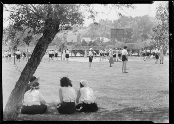 Women's play day, Griffith Park, Los Angeles, CA, 1932