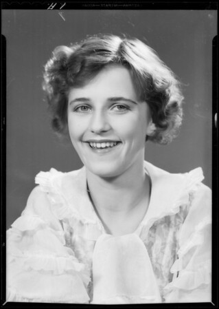 Portrait of Miss Hill, Southern California, 1933