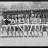 Ken Murray and Paramount girls at Malibu La Costa, Malibu, CA, 1931