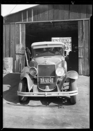 Graham-Paige, A.J. Brown, owner & assured, Southern California, 1933