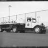 Football and Signal truck, Southern California, 1934