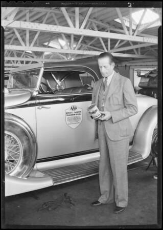 Al Jenkins and Pierce-Arrow, Pennzoil, Southern California, 1933