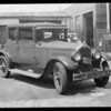 Mr. Parks' car, Parks injured, Southern California, 1932
